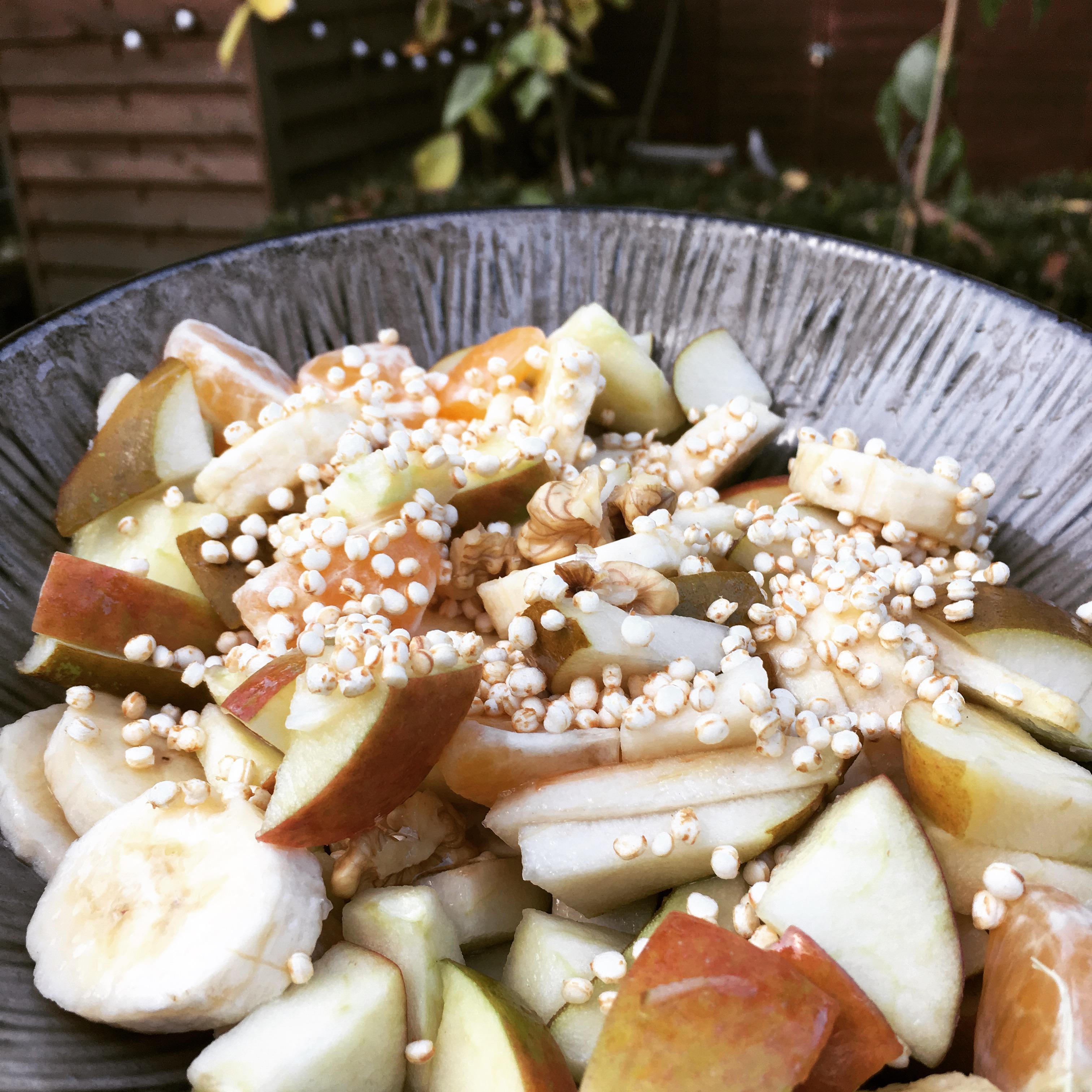 Knusper Knusper frisches Obstsalätchen