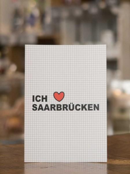 """Postkarte """"Ich liebe Saarbrücken""""  Mädchenwahn"""