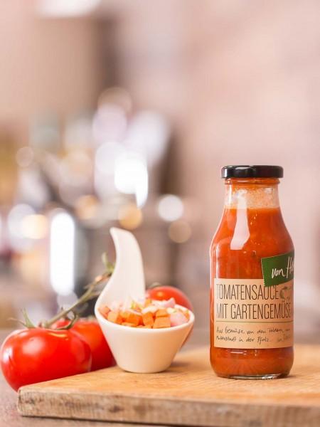 Tomaten Sauce mit Gartengemüse