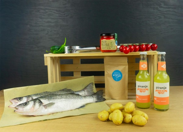Fisch Grillbox Spanien mit Wolfsbarsch