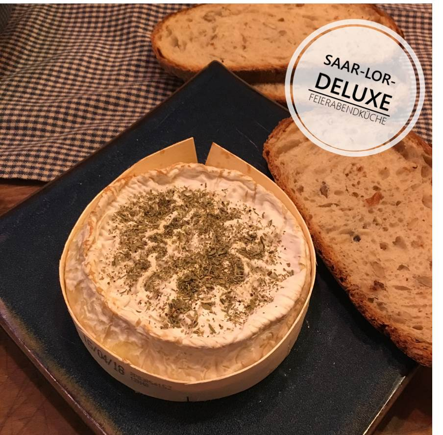 Ofen Camembert mit Kräuter der Provence