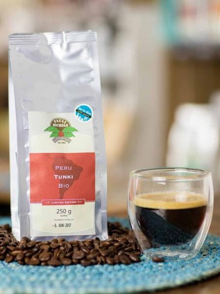 BIO Kaffee Bohnen Peru Arabica Tunki Pauli Michels
