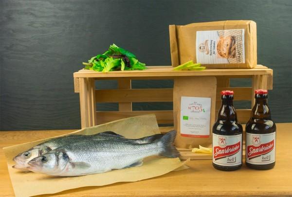 Fisch Grillbox Ciabatta Schwenk-Wolfsbarsch