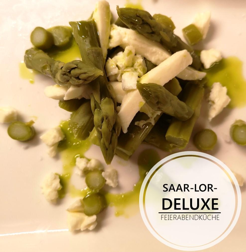 Spargel-Mozzarella Salat mit Hanföl