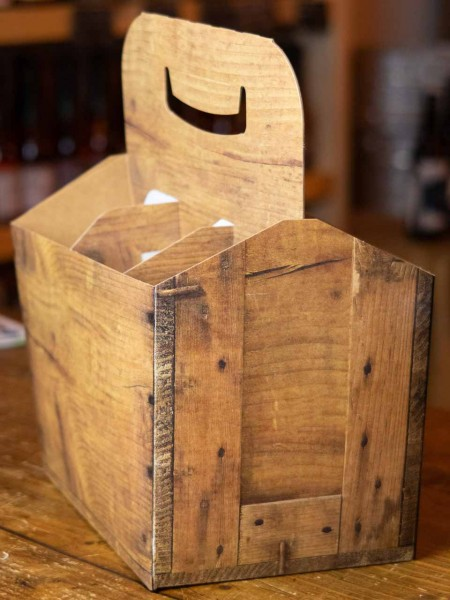6er Träger Holz Optik