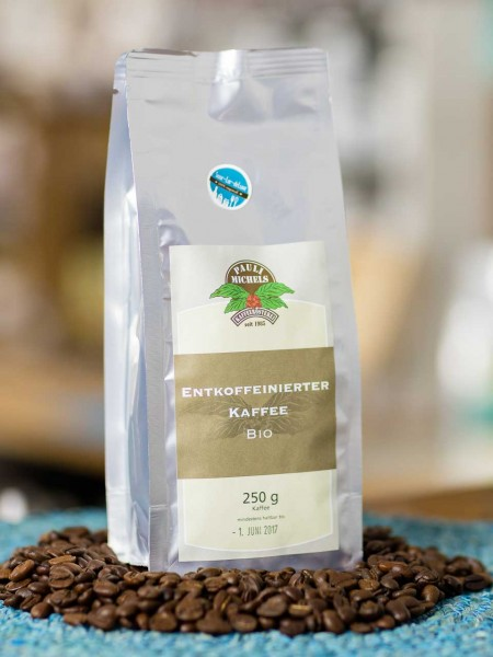 BIO entkoffeinierter Kaffee (Bohnen) Pauli Michels