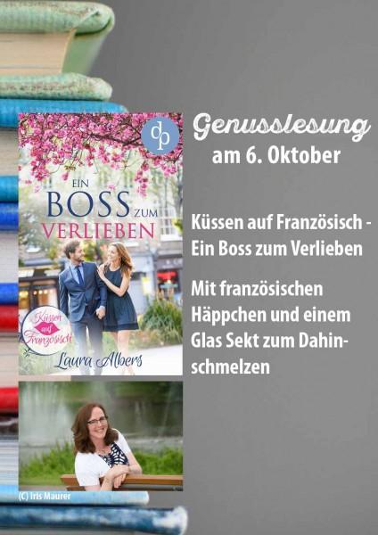 Eintrittskarte Genusslesung Ein Boss zum Verlieben mit Laura Albers