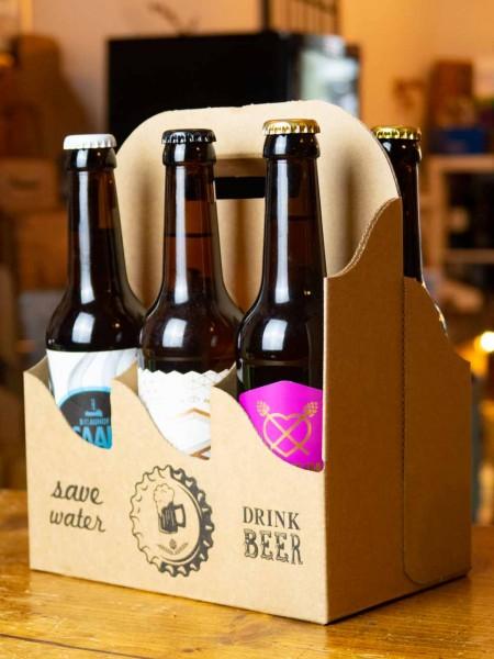 6er Bier-Träger save water - drink beer