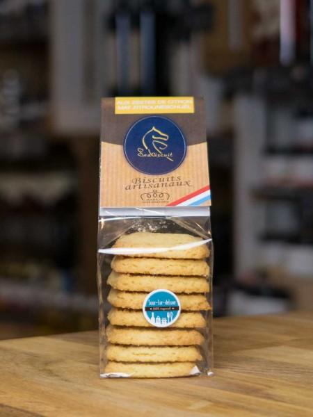 Biskuit Kekse mit Zitronenzesten