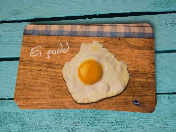 Frühstücksbrett Ei gudd