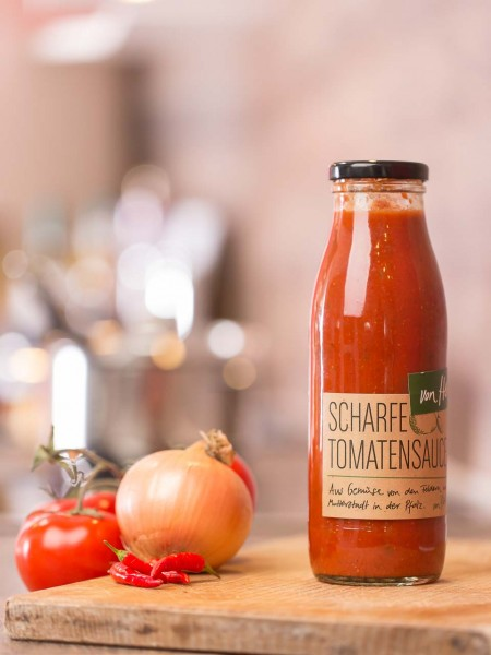 Scharfe Tomatensauce