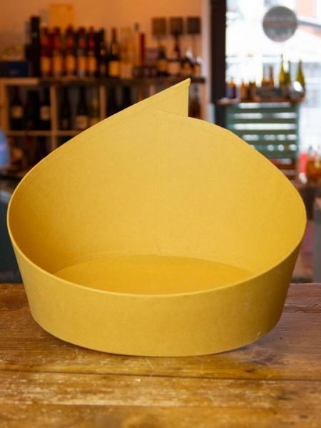 Geschwungener Karton-Korb - oval