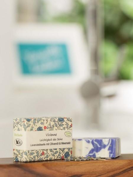 BIO Seife Vivienne mit Lavendelöl und Meersalz