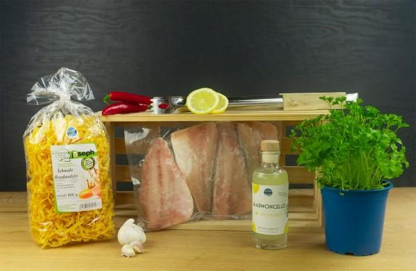 Fisch Grillbox Italien mit Wolfsbarsch