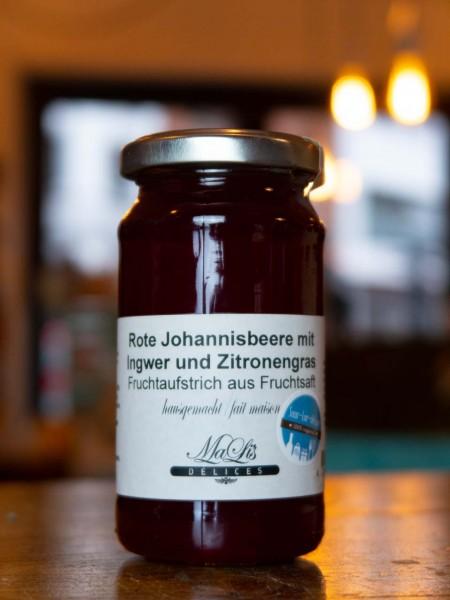 Rote Johannisbeere mit Ingwer und Zitronengras Aufstrich