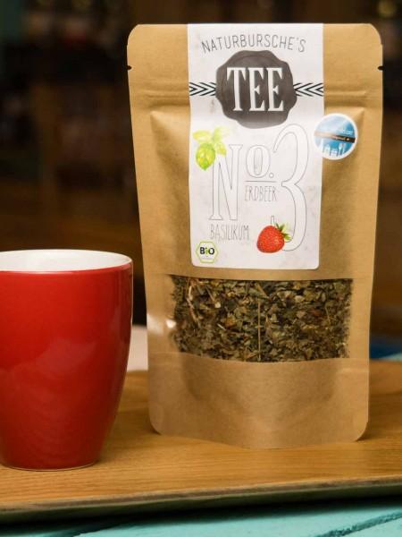 BIO Basilikum Erdbeer Tee No. 3 - Naturbursche