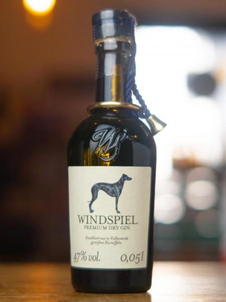 Windspiel Premium Dry Gin Miniaturflasche