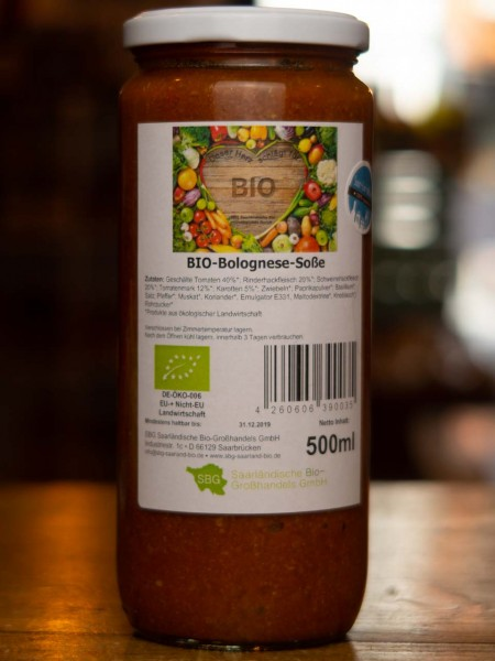 BIO Bolognese Tomaten Sauce